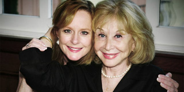 """Mary McDonough (left) with former """"Waltons"""" cast mate Michael Learned."""