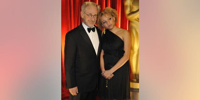 Steven Spielberg and daughter Mikaela at the 81st annual Academy Awards.