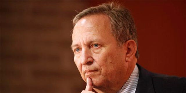 Lawrence Summers, then-White House chief economic adviser, speaks at the Buttonwood Gathering in New York in 2009. He called on the U.S. to spend a lot more money oncoronavirus testing and contact tracing in order to get the economy running again.