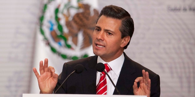 Mexico's President Enrique Pena Nieto speaks during an event an agreement with the three major political parties was signed to create two new national television channels and form a powerful independent regulatory commission along the lines of the U.S. Federal Communications Commission, at the Technological Museum in Mexico City, Monday, March 11, 2013. Pena Nieto on Monday proposed a sweeping overhaul of the weak and chaotic regulations that have allowed the world's richest man and the largest Spanish-language media empire to exert near-total control of Mexico's lucrative telephone and television markets. (AP Photo/Alexandre Meneghini)