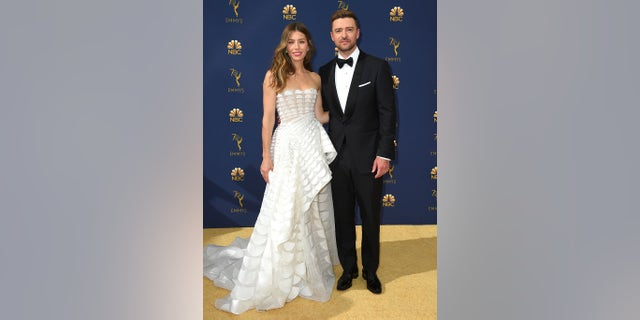 Jessica Biel and Justin Timberlake at the 70th annual Emmys.