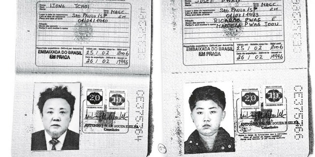 The Brazilian passports allegedly belonging to Kim Jong Un and Kim Jong Il were released by Reuters on Tuesday.