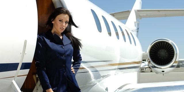 Attendant flight naked air hostess can
