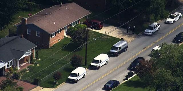 Home in Clinton, Md., where three young girls were stabbed to death early Friday.
