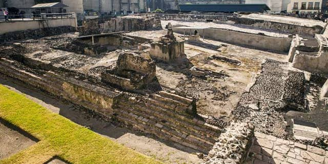 Templo Mayor, Temple, ruin, Mexico city; Shutterstock ID 143126077; Project/Title: Mexico's Most Amazing Ruins slideshow; Downloader: Melanie Marin