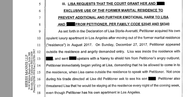 Allegations laid out in court records by Lisa Storie-Avenatti.