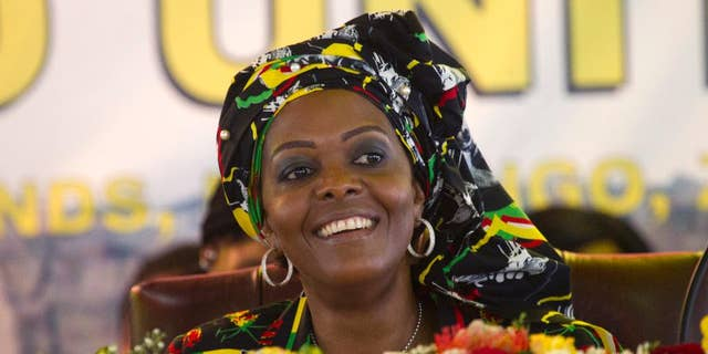 An arrest warrant has been issued for former Zimbabwean first lady Grace Mugabe for an alleged assault of a model inside a Johannesburg hotel room in 2017. (AP Photo/Tsvangirayi Mukwazhi)
