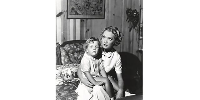 Hopkins and her son Michael in 1935.