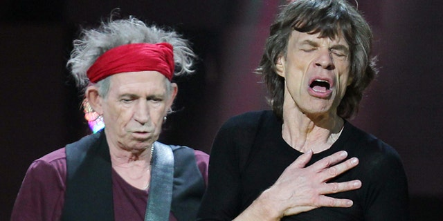 Mick Jagger performs at the 12-12-12 concert on Dec. 12, 2012.