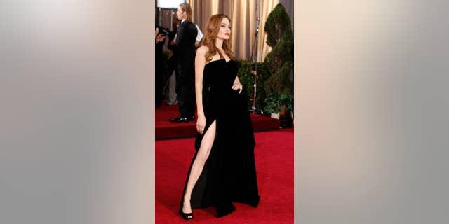 Angelina Jolie at the 2012 Oscars.