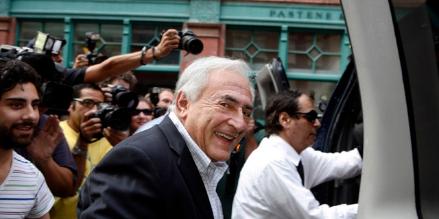 Sept. 3: Dominique Strauss-Kahn, former head of the International Monetary Fund, leaves his rented town home on Franklin Street in the Tribeca section of downtown Manhattan in New York.