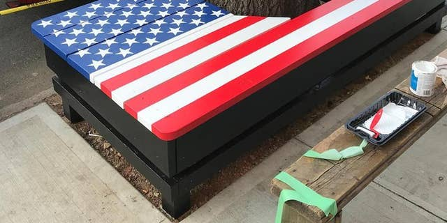 New York City's Department of Transportation told Post 1833 earlier in June that it received a complaint regarding the American flag bench that was built around a tree outside of the legion, and that it needed to be removed. The city ultimately rescinded the removal order.