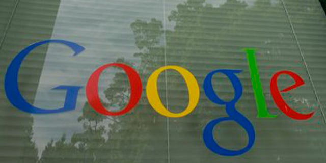 A Google logo is displayed at the headquarters in Mountain View, Calif.