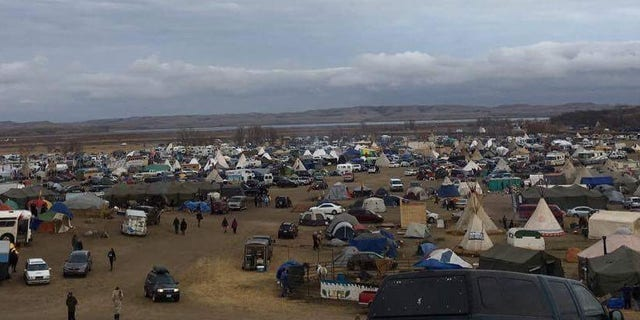 Thousands remain encamped despite bitter cold and deteriorating conditions.