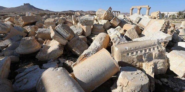 Reduced to Rubble: Palmyra's old city in 2017