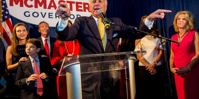 South Carolina Gov. Henry McMaster is seeking election to a first full term.
