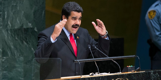 Maduro addresses the 69th session of the United Nations General Assembly on Sept. 24, 2014, at U.N. headquarters.