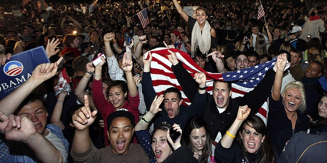 May 2, 2011: Crowds gather outside the White House in Washington to celebrate after President Obama announced the death of Osama bin Laden.