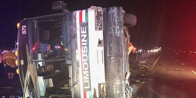 Multiple injuries were reported after a multi-vehicle crash involving a tour bus in New Mexico.