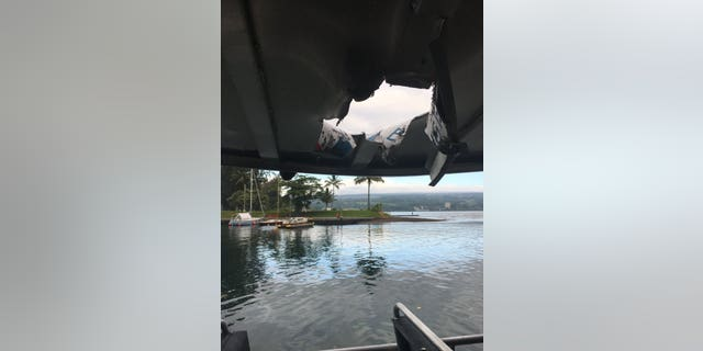At least 23 people were injured in Hawaii early Monday when a lava explosion from the Kilauea volcano sent debris flying through the roof of their tour boat.
