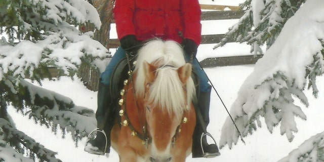 Louise Gorsuch horseback riding.