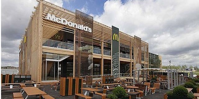 The newly constructed McDonald's restaurant at the Olympic Park in east London.