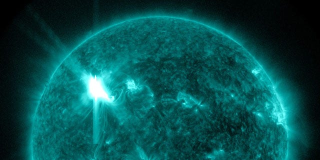 The biggest solar storm since 2006 reached earth Thursday morning.