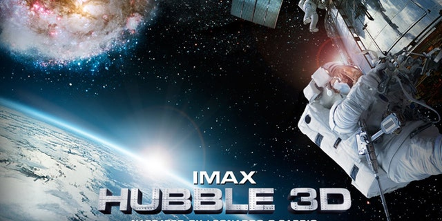 """A movie poster for the Imax film """"Hubble 3D."""""""