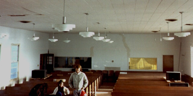 Inside Waco church in 1989.