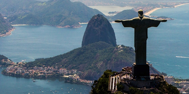 RIO DE JANEIRO, BRAZIL - NOVEMBER 12: View of  with Christ the Redeemer and Sugar Loaf at background on November 12, 2013 in Rio de Janeiro, Brazil.  (Photo by Buda Mendes/Getty Images)