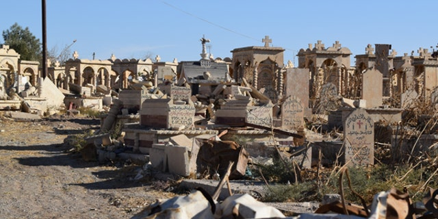 ISIS also descrated scared burial grounds of the Assyrian Christians.