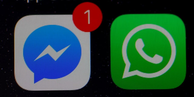 File photo: WhatsApp and Facebook messenger icons are seen on an iPhone. (REUTERS/Phil Noble)