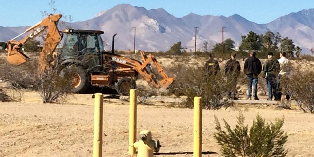Cops used backhoe to search desert in Ridgecrest for Diana Rojas' body.