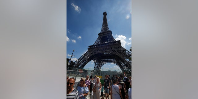 The visitors descending on the Eiffel Tower at the peak of the August tourist season are voicing frustration that the beloved Paris monument is closed.