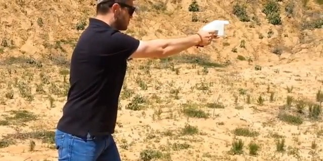 May 5, 2013: A 3D printed gun created by Defense Distributed is successfully test fired by creator Cody Wilson. Wilson had posted the blueprints for the gun online but was ordered by the Federal Government to take them down.