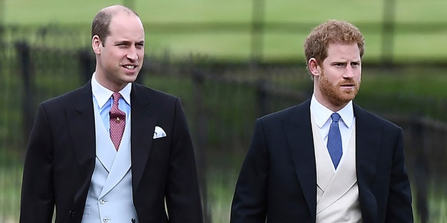 Prince William and Prince Harry attend Pippa Middleton's wedding.