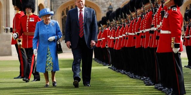 "President Trump called Queen Elizabeth II a ""tremendous woman"" before his visit."