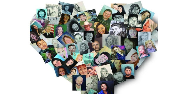 Art pieces from the Las Vegas Portraits Project seek to honor the 58 victims of the Las Vegas Massacre and help their families heal ahead of the tragedy's one-year anniversary.