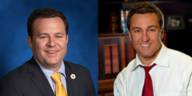 Rep. Stuart Bishop (left) and Sen. Norby Chabert (right) got into a fistfight at a bar Tuesday night over a dispute about a bill.