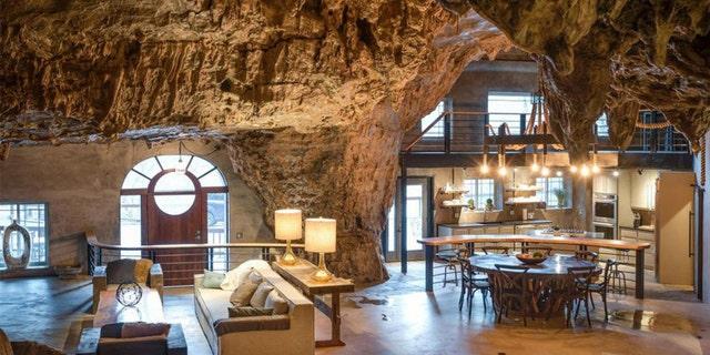 Pleasant Arkansas Ozarks Home Inside A Cave Selling For 2 75 Million Interior Design Ideas Oteneahmetsinanyavuzinfo