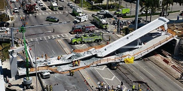 The bridge collapsed Thursday, March 15, 2018, killing at least six people.