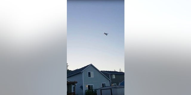 The plane was witnessed flying over homes on August 10, 2018.