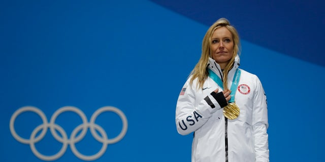 Jamie Anderson won her second Olympic gold medal during the women's snowboard slopestyle event at the 2018 Winter Olympics.