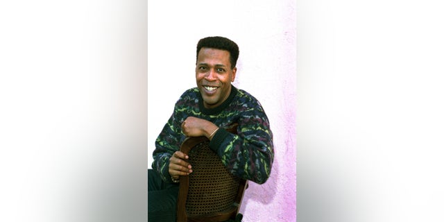 """Jan. 30, 1989. Meshach Taylor poses during an interview in Los Angeles, Calif. Taylor's agent says the actor, who appeared in the hit sitcoms """"Designing Women"""" and """"Dave's World"""" died of cancer on Saturday, June 28, 2014, at his home in Los Angeles. He was 67."""