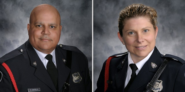 Robb Costello and Sara Burns were identified as the two officers killed in a shooting on Friday, August 10, 2018.