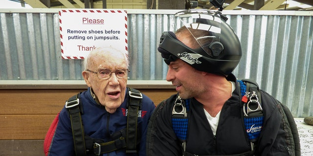 Williamson also went skydiving for his 99th birthday last year.