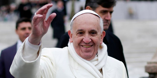 Pope Francis at St. Peter's Square at the Vatican Nov. 27, 2013.