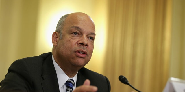 Department of Homeland security Secretary Jeh Johnson was mum when lawmakers asked about the refugees.