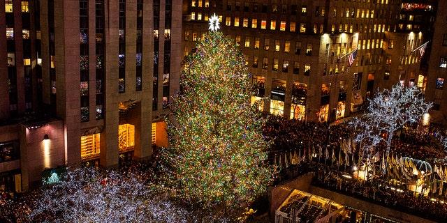 The 85th annual Rockefeller Center Christmas tree lighting ceremony was on Nov. 29, 2017.