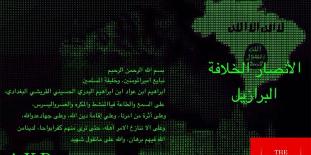 The message appeared on the terror sect's Telegram account.